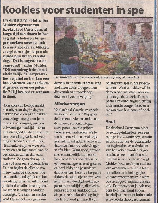 29-05-2013 - Kookschool Castricum