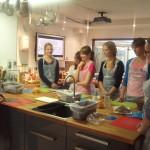 Studenten koken - kookschool Castricum